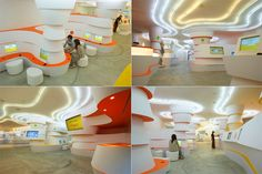 Reinventing Kids' Spaces/Playgrounds- The Cool Hunter - Kids School Building Design, School Design, Kids Library, Library Design, Learning Spaces, Learning Centers, Hunter Kids, Glass Museum, Ceiling Treatments