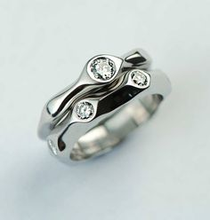 Comely A Wedding And Engagement Ring Set Made From A Family Treasure Wedding And Engagement Rings