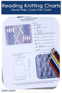 Reading Knitting Charts. Visual Help: Color the Charts