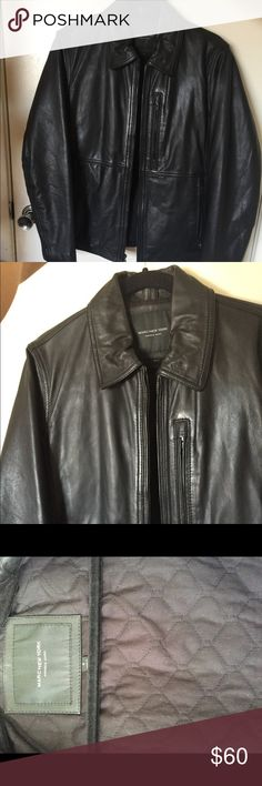 Marc New York Leather Jacket with Quilting Lining Marc New York Lined Leather Jacket. Never been worn. High quality leather, sturdy zippers, quilted lining. Leather is supple and in perfect condition.  Great piece. Andrew Marc Jackets & Coats