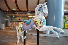 Carousel Horse on board Royal Caribbean's Oasis of the Seas Royal Caribbean Oasis, Caribbean Drinks, Caribbean Food, Caribbean Cruise, Caribbean Tattoo, Carnival Fantasy, Carosel Horse, Circus Crafts, Fair Rides