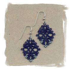 Pretty blue tatted earrings