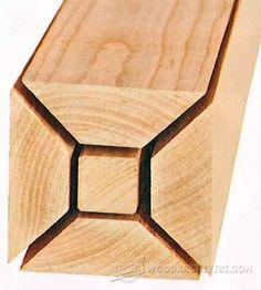 Build Thick Legs - Furniture Leg Construction | WoodArchivist.com