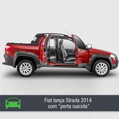 A nova picape Strada da Fiat chegou à linha 2014 trazendo muitas novidades. Confira na matéria completa: https://www.consorciodeautomoveis.com.br/noticias/nova-fiat-strada-2014-cabine-estendida-com-porta-suicida?idcampanha=206&utm_source=Pinterest&utm_medium=Perfil&utm_campaign=redessociais