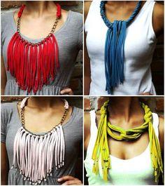 collar flecos de trapillo