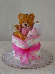 Girl Diaper Cupcake
