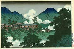 Beppu Hotsprings  by Kawase Hasui, 1927
