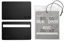 Brand identity and print design for new fashion label BLK DNM