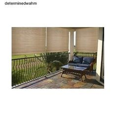 Patio Roll Up Shade Outdoor Porch Balcony Deck Blinds Sun Block Window  Treatment