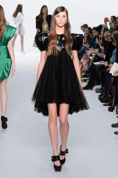 Dice Kayek | Spring 2015 Couture | 17 Black embellished short sleeve mini dress