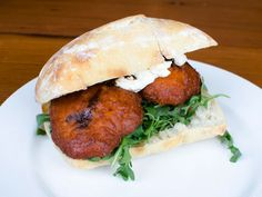 A Sandwich a Day: Butternut Squash Fritters at Runner & Stone. #brooklyn #nyc