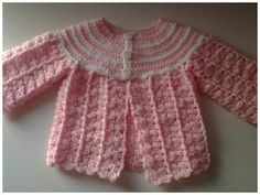 Abrigo para bebé tejido a Crochet - Tutorial Paso a Paso (AJUAR) - YouTube