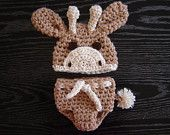 Little Giraffe Hat Crochet Photography Prop Ready Item. $18.00, via Etsy.