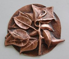 Copper Repousse | this is bougainvillea done in copper repousse repousse is an ancient ...