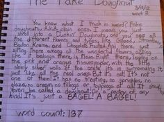 The world's greatest essay, written by a 12-year-old who really, really hates plain doughnuts. Kid really is wise beyond his years.