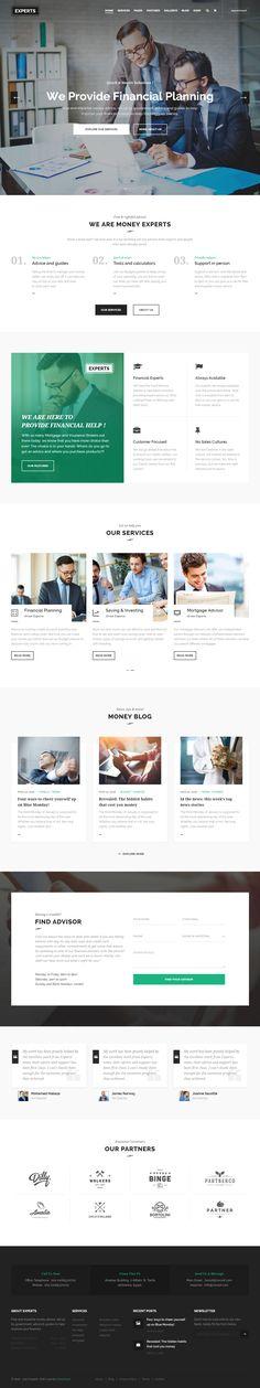 Experts is Premium full Responsive Retina #Parallax #WordPress #Financial Theme. WooCommerce. Visual Composer. Revolution Slider. Test free demo at: http://www.responsivemiracle.com/experts-premium-responsive-wordpress-theme-finance-firms/