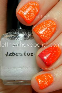 Sation: Bump in Beige; One and only Orange; Fan the Flames Fuchsia with Windestine: Asbestos