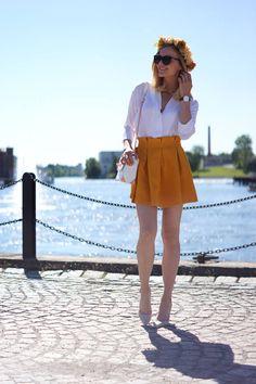 Goodnight Macaroon Mustard Trendy High Waisted Skater Skirt # #Caroline #Summer Trends #Women's Fashion Bloggers #Bloggers Best Of #Goodnight Macaroon #Skater Skirt High Waisted #High Waisted Skater Skirts #High Waisted Skater Skirt Mustard #High Waisted Skater Skirt Goodnight Macaroon #High Waisted Skater Skirt trendy #High Waisted Skater Skirt Outfit #High Waisted Skater Skirt 2014 #High Waisted Skater Skirt Looks #High Waisted Skater Skirt What To Wear With