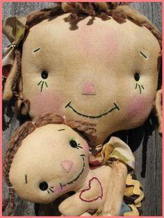 Prim rag doll pattern