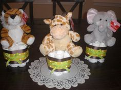 Monkey Jungle Safari Diaper Cake Baby by bearbottomdiapercakes, $15.00