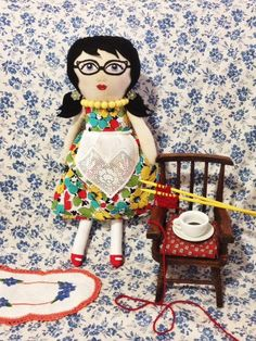 Miss Yvonne Handpainted Doll by alittlevintagestore on Etsy, $55.00