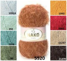 NAKO Paris knitting supplies soft yarn от KnittingAndYarns на Etsy