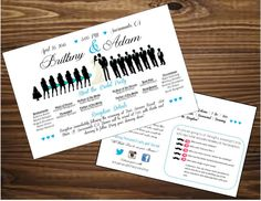 silhouette wedding program, customized wedding programs, purchase today!