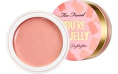 Who says a little rose pink can't go a long way. The Too Faced Tutti Frutti You're So Jelly Highlighter feels refreshing and has an immediate glow. Best Highlighter, Cream Highlighter, Glow Effect, Jelly Nails, Clear Skin Tips, How To Do Makeup, Makeup Brands, Makeup Products, Beauty Products