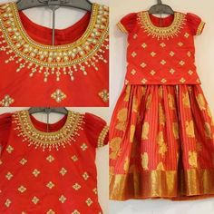 Kids lehengas Kids Party Wear Dresses, Kids Dress Wear, Dresses Kids Girl, Kids Outfits, Indian Dresses For Kids, Kids Blouse Designs, Pattu Saree Blouse Designs, Baby Dress Design, Kids Lehenga