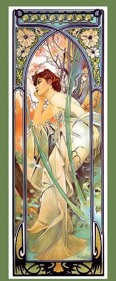 Reverie du Soir Giclee Print by Alfons Maria Mucha, known in English and French as Alphonse Mucha, was a Czech Art Nouveau painter and decorative artist, known best for his distinct style. He produced many paintings, illustrations, advertisements, postcards, and designs. Most of his work was created in France. Wikipedia