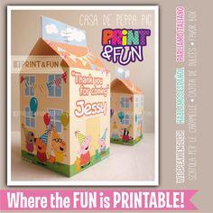 Favor Box Peppa Pig's House por Printnfun en Etsy, €7.00