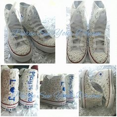 Custom Pearl and Crystal Rhinestone Bridal Converse Wedding Shoes -- Prom Shoe - Custom Converse - Pageant Shoes