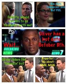 Too funny Oliver and Felicity - Arrow