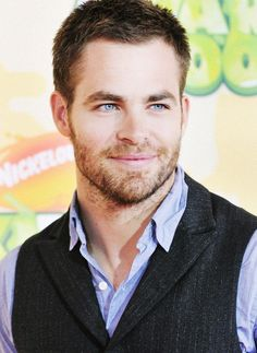 His eyes though! Chris Pine