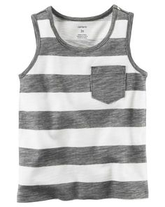 601feb3a20bb8 Clothing Carters Baby Girls Striped Pocket Tank Top