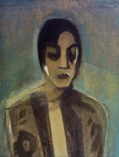 """helene schjerfbeck, """"dunkle dame,"""" oil on canvas, 1929 Helene Schjerfbeck, Vintage Artwork, True Art, Portrait Art, Portraits, Harlem Renaissance, Painting Inspiration, Painting & Drawing, Printmaking"""