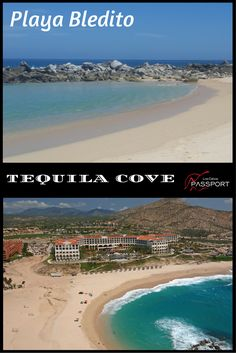 TEQUILA COVE Playa Bledito, also known as Tequila Cove, fronts the Meliá Cabo Real and Hilton hotels. A man-made breakwater makes for very safe swimming and water sports. Jet Ski and equipment rentals are between the Meliá and the palapa-dotted beach. Hilton Hotels, Cabo San Lucas, Jet Ski, Water Sports, Snorkeling, Tequila, Beaches, Surfing, Swimming