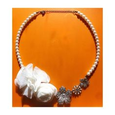 Flower and Pearl Statement Necklace ☁️ • NWOT • Complete an outfit with this beautiful piece • Elegant • Adjustable • Not sure where this was purchased from Jewelry Necklaces