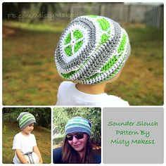 Sounder slouch hat crochet pattern by Misty Makes.. Inspired by the Seattle Sounders MLS soccer team