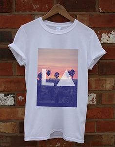 LA LOS ANGELES HIPSTER SKATE BAGGY INDIE SWAG TOP TRIANGLE T SHIRT MEN WOMEN KID ($15.28) - Svpply