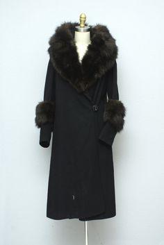 1920s Fur and Wool Coat