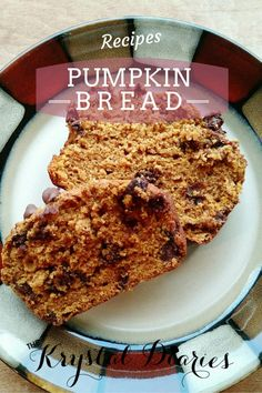 Chocolate Chip Pumpkin Bread - The Krystal Diaries