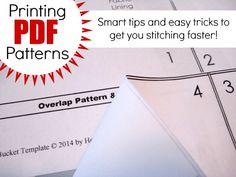 Printing PDF Patterns at home - The Sewing Loft