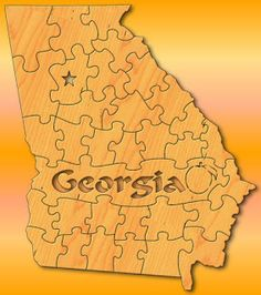 scroll saw patterns of trains | Georgia State Puzzle