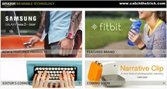 Amazon launches its Wearable Technology Store Online. Visit http://goo.gl/hVCOLv for more details