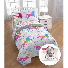Unicorn Rooms, Unicorn Bed Set, Unicorn Room Decor, Unicorn Bedroom, Teen Girl Bedrooms, Little Girl Rooms, Bedroom Sets, Bedding Sets, Twin Comforter