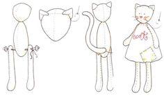 Тильда кошка - схема шитья