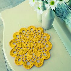 Doily Crochet pattern or T-yarn Rug PDF - mandala crochet pattern - INSTANT DOWNLOAD