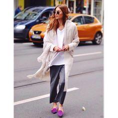 GORGEOUS, Maja!!!!    @majawyh in Line & Dot White Angora Hepburn Duster             #LineandDot #LineandDotXO #FW14 #StreetStyle #StyleBlogger  (at www.thelineanddot.com)