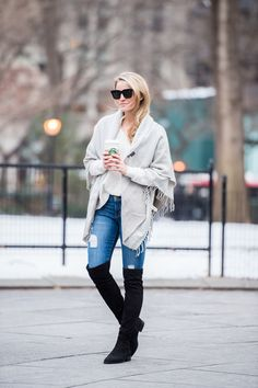 Over The Knee Boots By Styled Snapshots